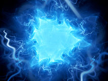 Blue glowing triangle plasma field in space Royalty Free Stock Images