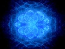Blue glowing unknown virus Royalty Free Stock Photos