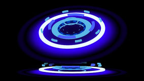 Blue glowing wheels, 3d illustration Stock Photography