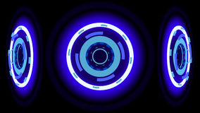 Blue glowing wheels, 3d illustration Stock Images