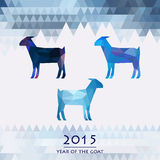 Blue goats, the symbol of the new year of the goat Royalty Free Stock Images