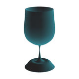 Blue goblet. Vector illustration. 3d image Royalty Free Stock Images