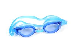 Blue Goggle on white Royalty Free Stock Photography