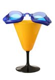 Blue goggles. Royalty Free Stock Photography