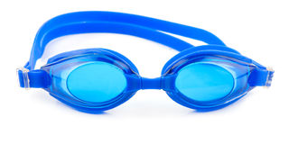 Blue goggles. For swim on white background Royalty Free Stock Image