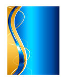 Blue and gold abstract background Royalty Free Stock Photography