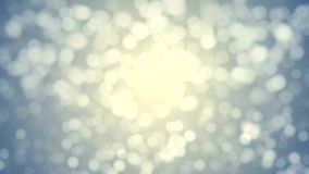 Blue gold abstract lights bokeh out of focus, sun stock video footage