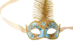 Blue and gold carnival mask Royalty Free Stock Image