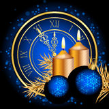 Blue and gold christmas background. Vector blue and gold christmas background Stock Image