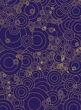 Blue gold circles. Vintage pattern background, created in Photoshop CS 3, this is my work Royalty Free Stock Photos