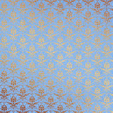 Blue and Gold Damask Background Stock Images