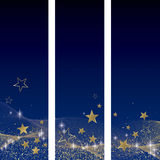 Blue and gold elements. Blue and gold festive elements full Royalty Free Stock Images