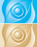 Blue and gold eye background Royalty Free Stock Photography