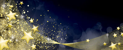 Blue and gold festive background. Full vector Royalty Free Stock Images