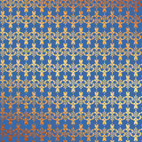 Blue and Gold Foil Floral Background Stock Photos