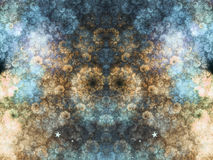 Blue and gold fractal clouds Royalty Free Stock Photography