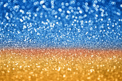 Blue Gold Glitter Stock Photo