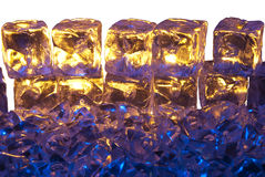 Blue and Gold Ice Stock Images