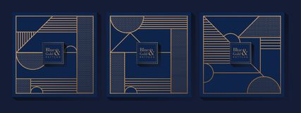 Blue and Gold Luxury Pattern vector illustration