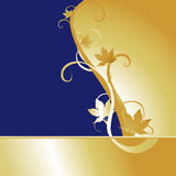 Blue Gold Maple Background Royalty Free Stock Images