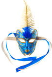 Blue and gold mask Stock Images