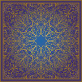 Blue and gold ornament. Royalty Free Stock Images