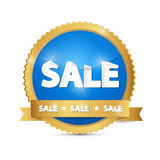 Blue, Gold Sale Sticker Royalty Free Stock Image
