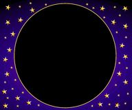 Blue Gold Stars Circle Frame Royalty Free Stock Photography