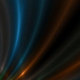 Blue and Gold streaks of light Stock Photo