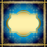 Blue and gold vintage card - vector Stock Photo