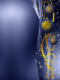 Blue and golden elegant Christmas decoration Stock Images