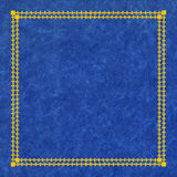 Blue and golden leather cover Royalty Free Stock Photo