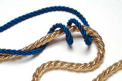 Blue and golden rope Stock Photography