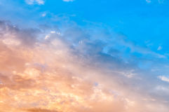 Blue and golden sky Royalty Free Stock Image