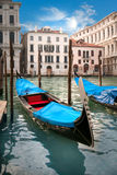 Blue gondola Royalty Free Stock Image