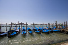 Blue Gondolas Royalty Free Stock Images