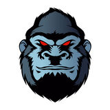 Blue gorilla head Royalty Free Stock Images