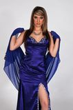 Blue gown Royalty Free Stock Photo
