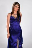 Blue gown Royalty Free Stock Image