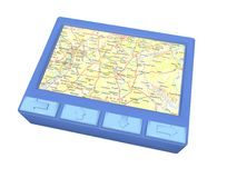 Blue gps device Stock Images