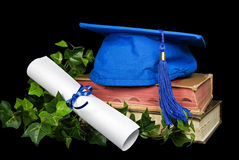 Blue Grad Hat Stock Photos