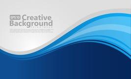 Blue gradation wavy background stock illustration
