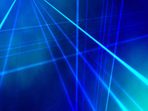 Blue Gradient. Vertical and hortizontal lines create an abstract perspective against a blue gradient cloudy background Stock Illustration