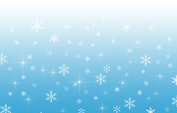 Blue gradient background with snowflakes Royalty Free Stock Image