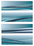 Blue gradient banners Stock Images