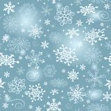 Blue gradient Christmas seamless pattern royalty free stock photography