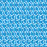 Blue gradient double filled geometric pattern background Royalty Free Stock Images