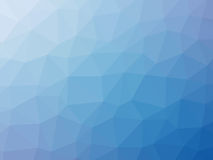 Blue gradient polygon shaped background.  Royalty Free Stock Photo