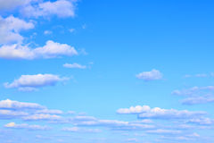 Blue gradient sky clouds Royalty Free Stock Photography