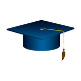 blue graduation hat icon Royalty Free Stock Photography